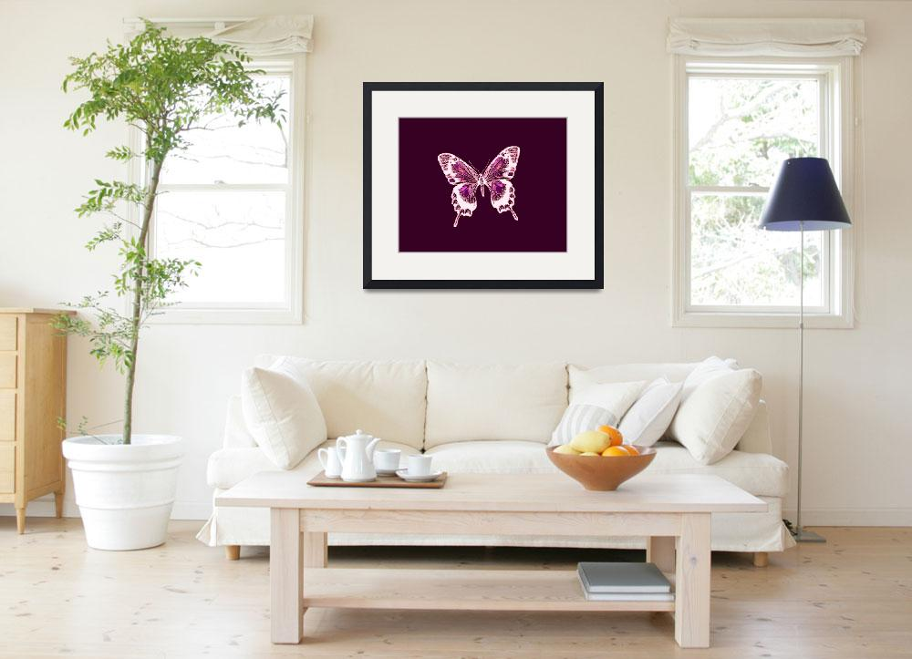 """""""Glowing White Violet Lavender Butterfly Violet Bac""""  (2013) by TheNorthernTerritory"""