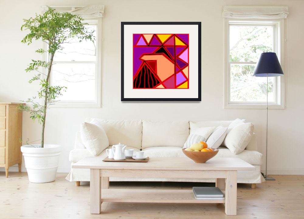 """""""Digital painting of triangles design&quot  (2009) by digitalpainting"""