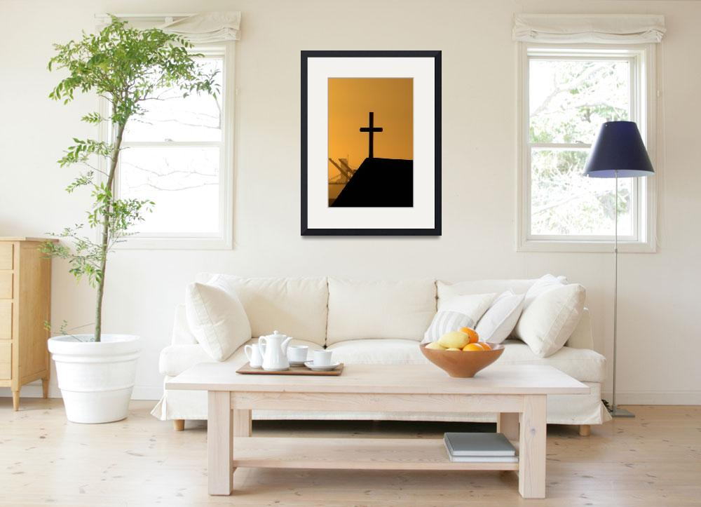 """Sunset Cross, Oakland, California&quot  (2007) by Artsart"