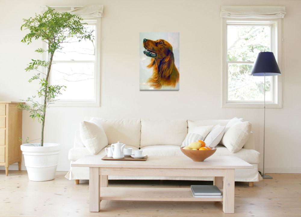 """Red Setter Pet Dog""  by ArtLoversOnline"