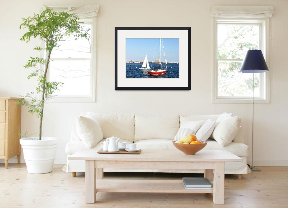 """""""Boats in the bay&quot  by psovart"""