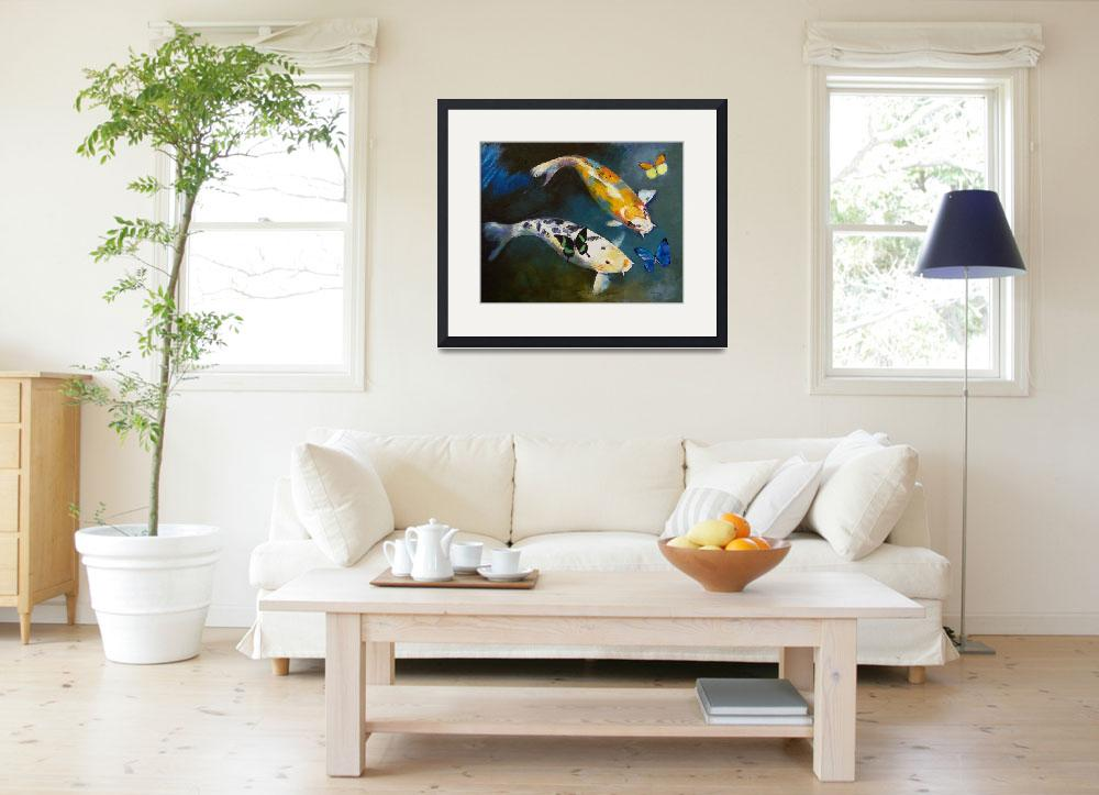 """""""Koi Fish and Butterflies&quot  by creese"""