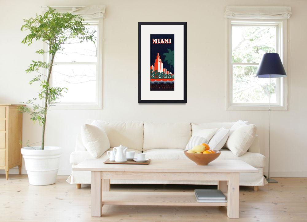 """Vintage Miami Metropolis of the Tropics&quot  by PDGraphics"