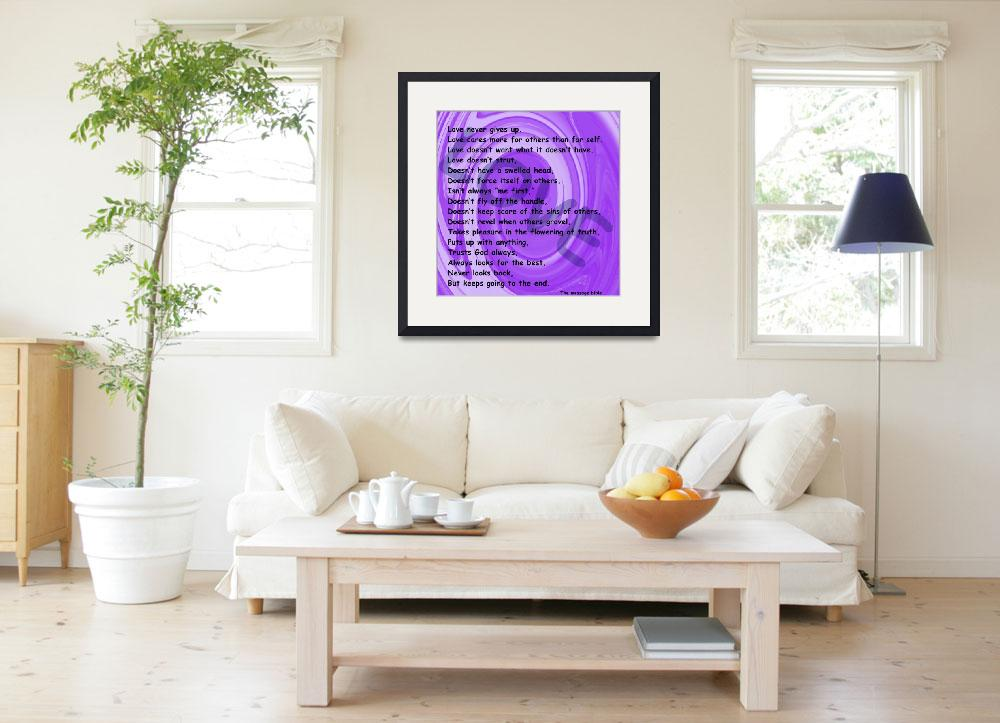 """love message purple swirl""  by lizmix"