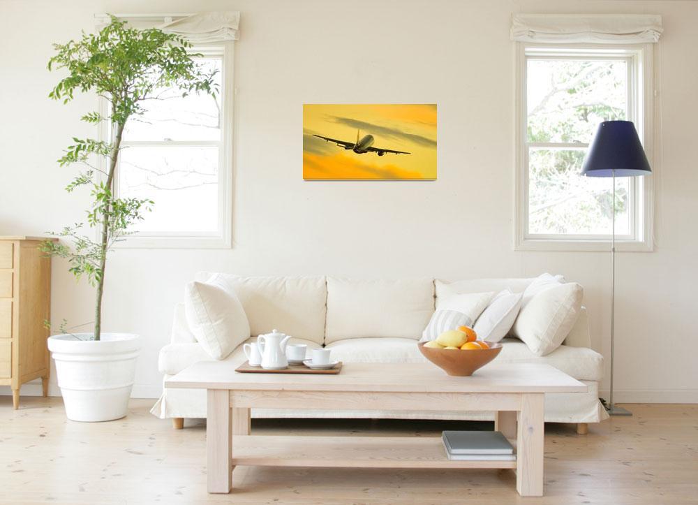 """Yellow flight&quot  by birdlike"