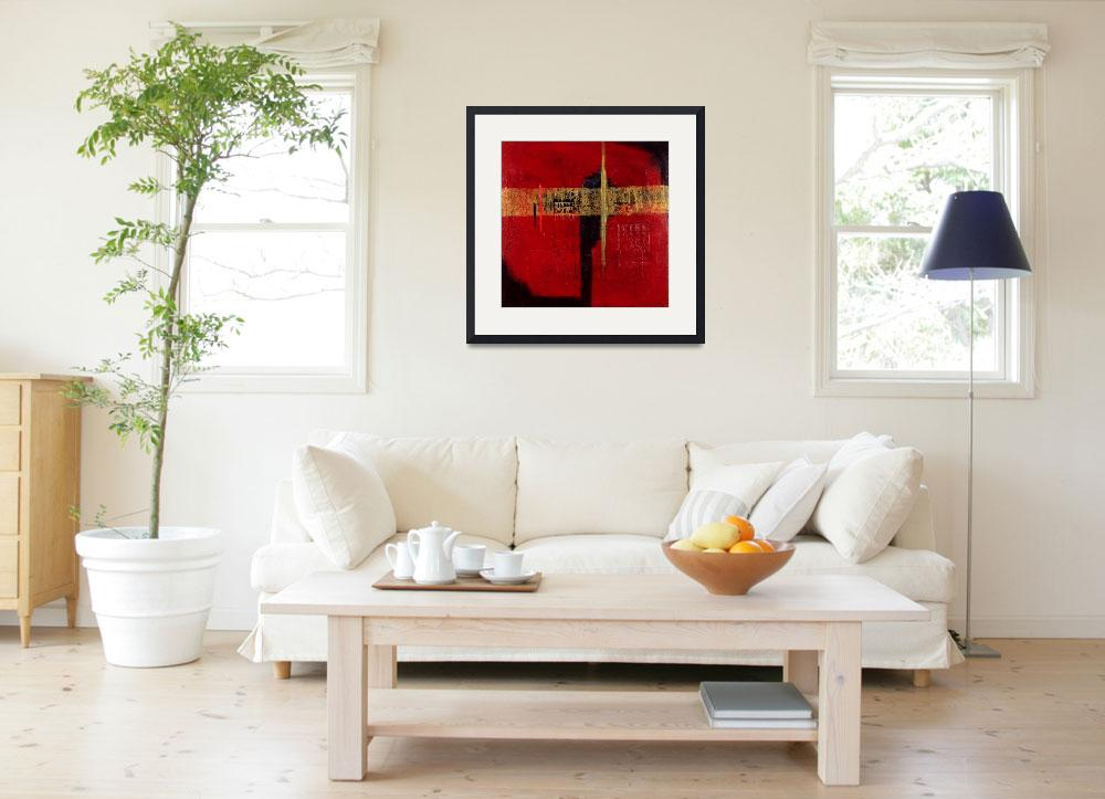 """""""untitled (red & gold)&quot  by AngelaRockett"""