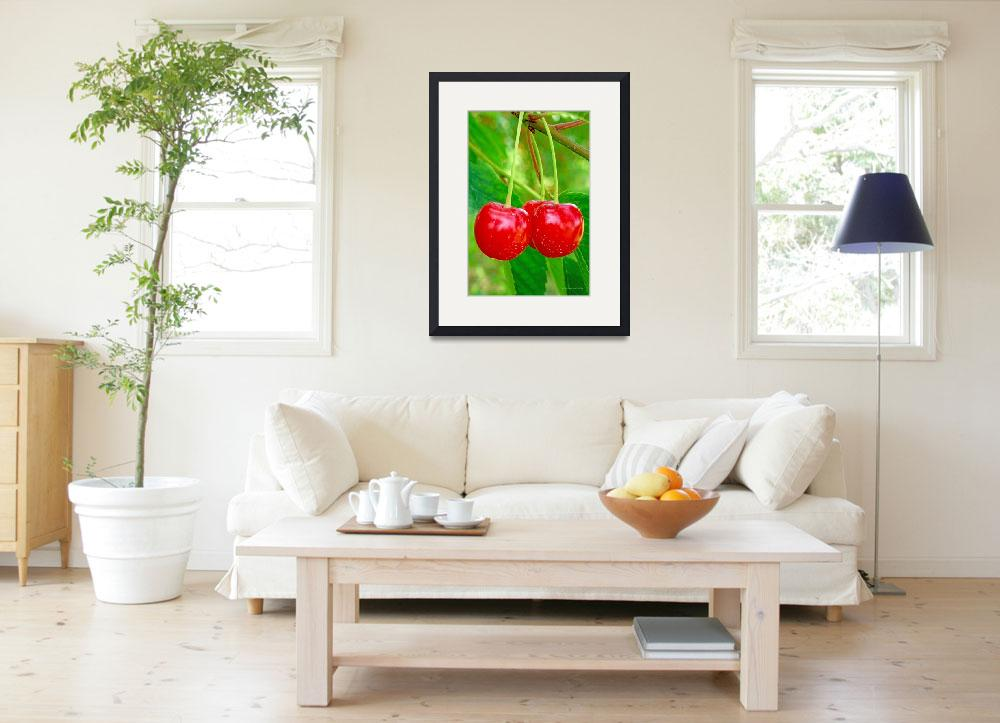 """Cherries&quot  by HodlinGallery"