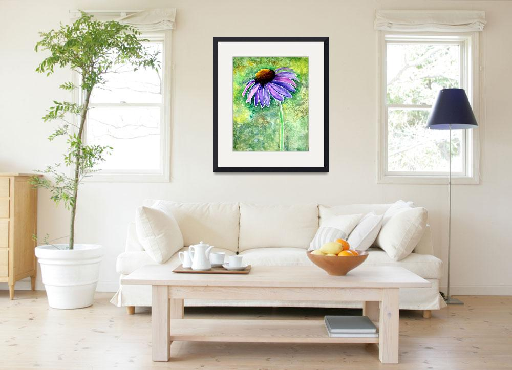 """Cone Flower Painting 8-6-15""  (2015) by MasArtStudio"