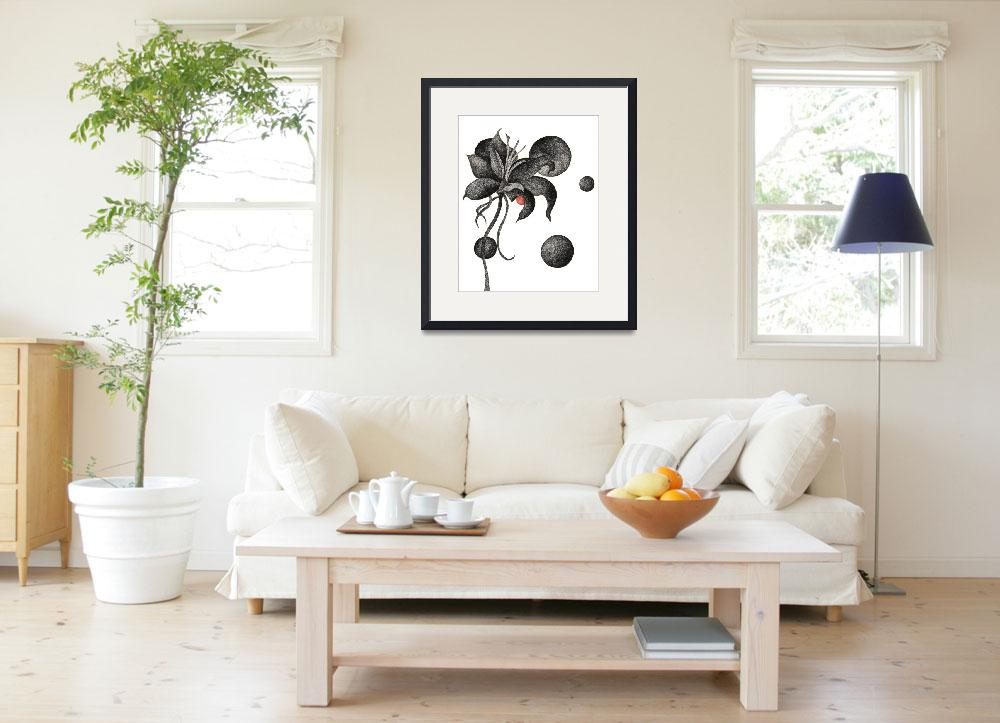 """""""Flower witn Moons&quot  (2010) by drawingwithdots"""