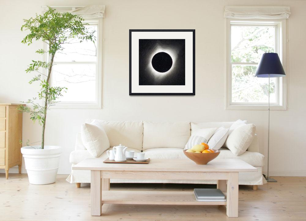 """""""Solar eclipse Poster 7&quot  by motionage"""