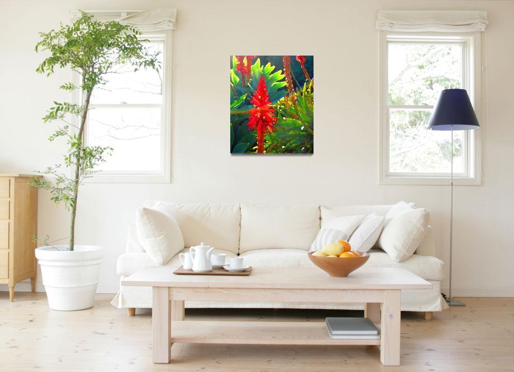 """Backlit Aloe Arborescens&quot  (2009) by AmyVangsgard"