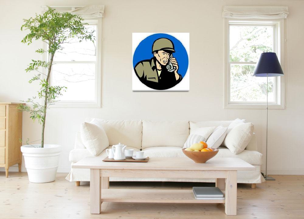 """military soldier talking radio walkie-talkie&quot  (2013) by patrimonio"