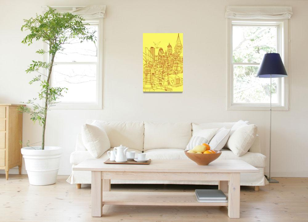 """""""London! Yellow/Red""""  (2010) by davidbushell"""