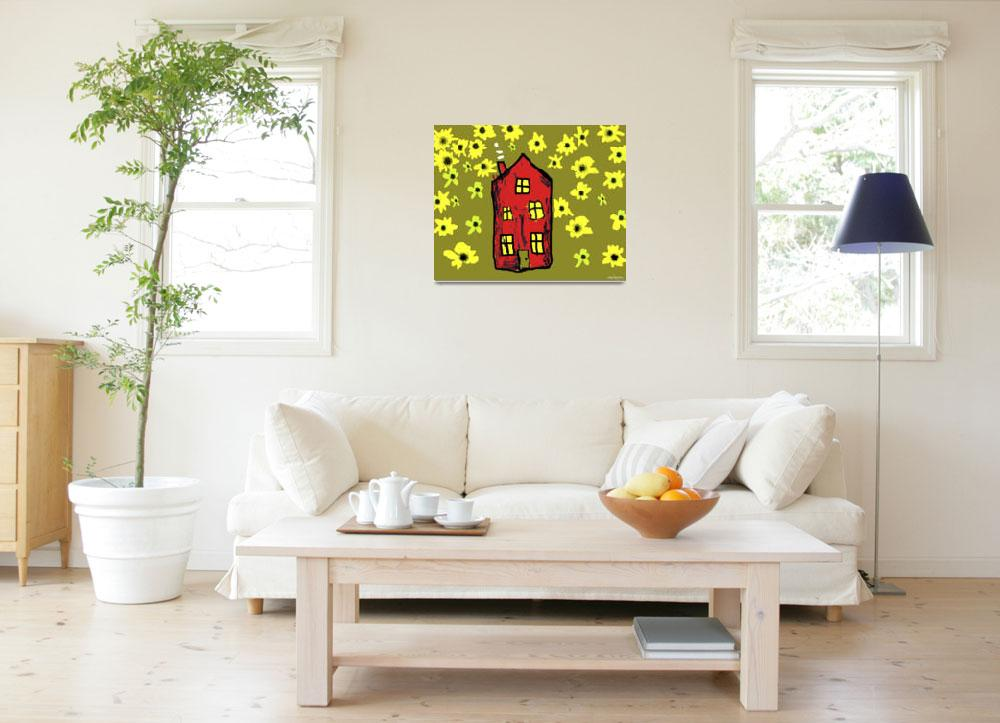 """""""Sunflower House&quot  (2012) by FlowersforMyLady"""