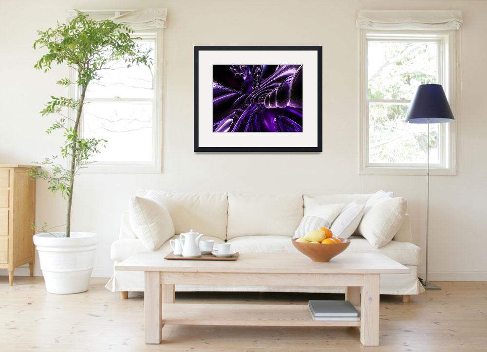 """""""Purple Delusions Abstract&quot  (2014) by AlexButler"""