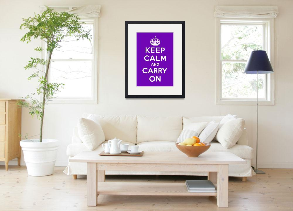 """""""Purple Keep Calm And Carry On 6&quot  by oldies"""
