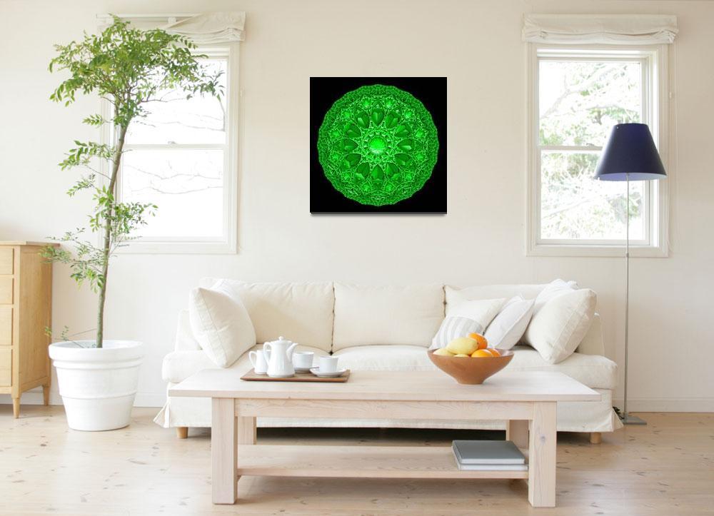 """Green Mandala&quot  (2010) by myikpix"