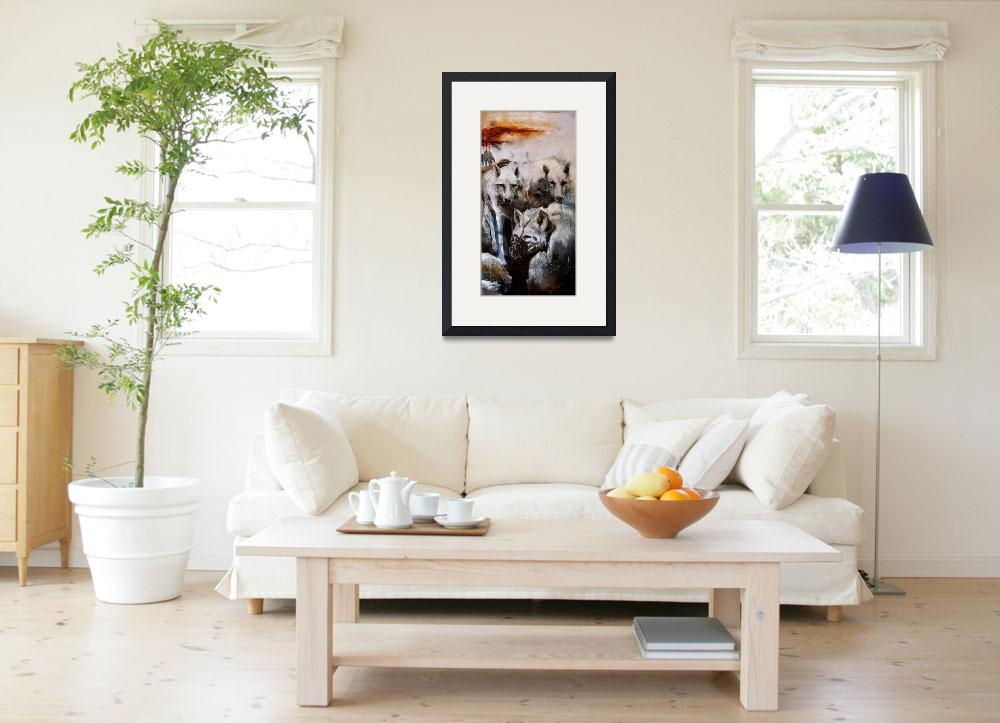 """""""The Lupine Court. (right side of triptych)""""  by OpieSnowPrints"""