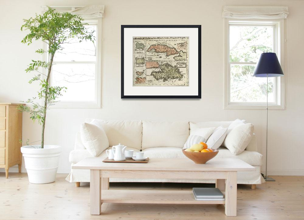 """""""Vintage Map of The Caribbean Islands (1630)&quot  by Alleycatshirts"""