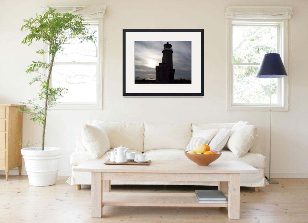 """""""North Head Lighthouse in the shadows&quot  (2011) by northheadnovelties"""