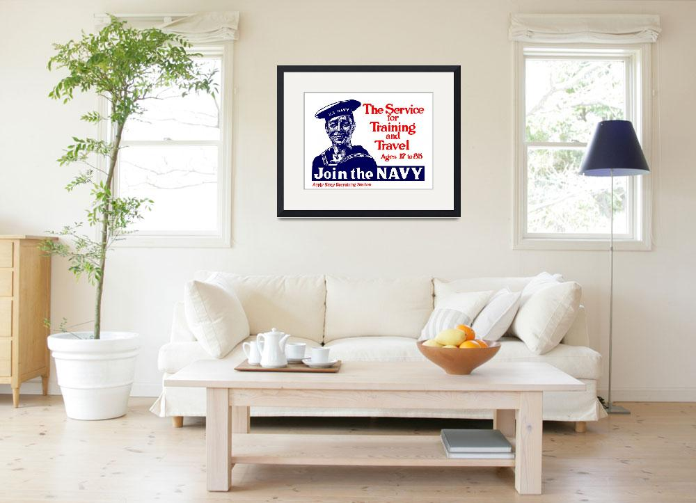 """""""Vintage World War I poster of a smiling U.S. sailo&quot  by stocktrekimages"""