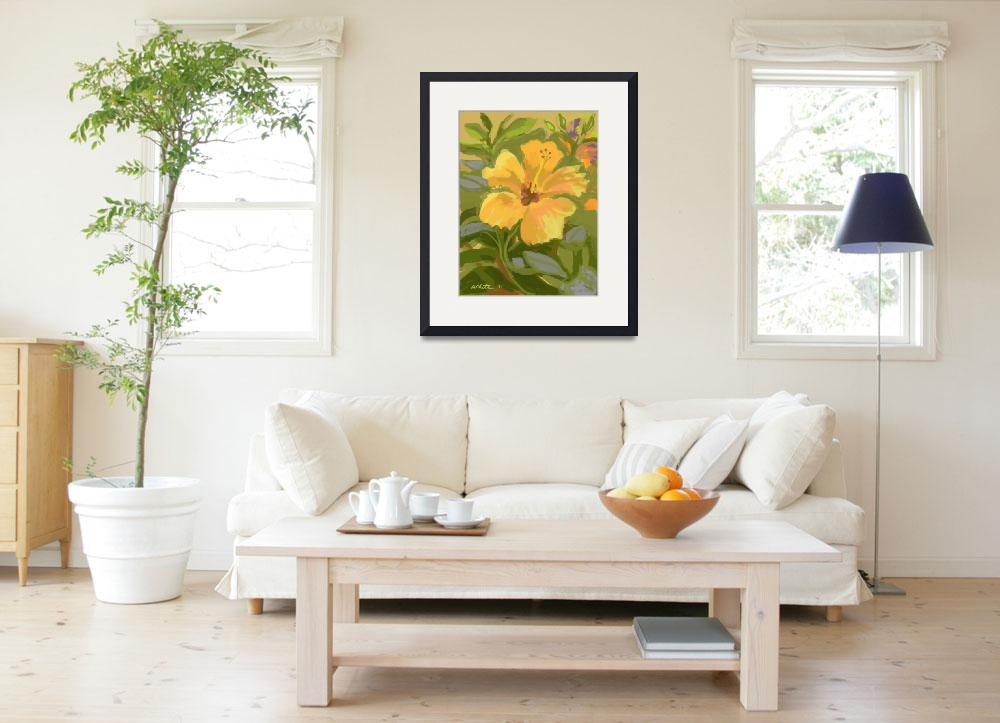 """""""Butterscotch Hibiscus&quot  (2011) by rogerwhite"""