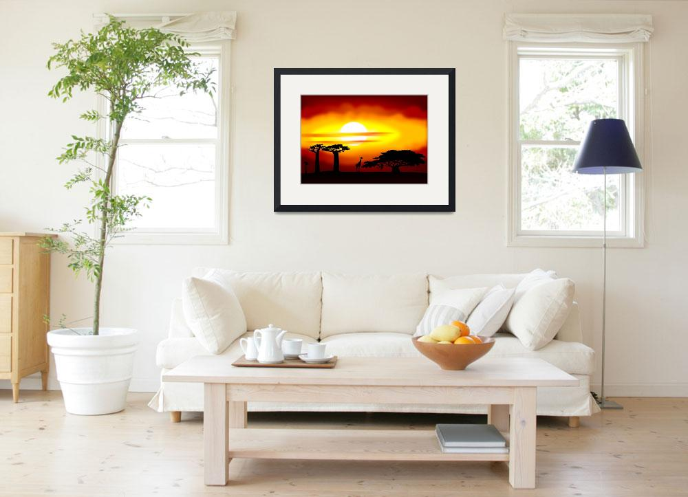 """""""Africa sunset&quot  (2011) by lamich"""