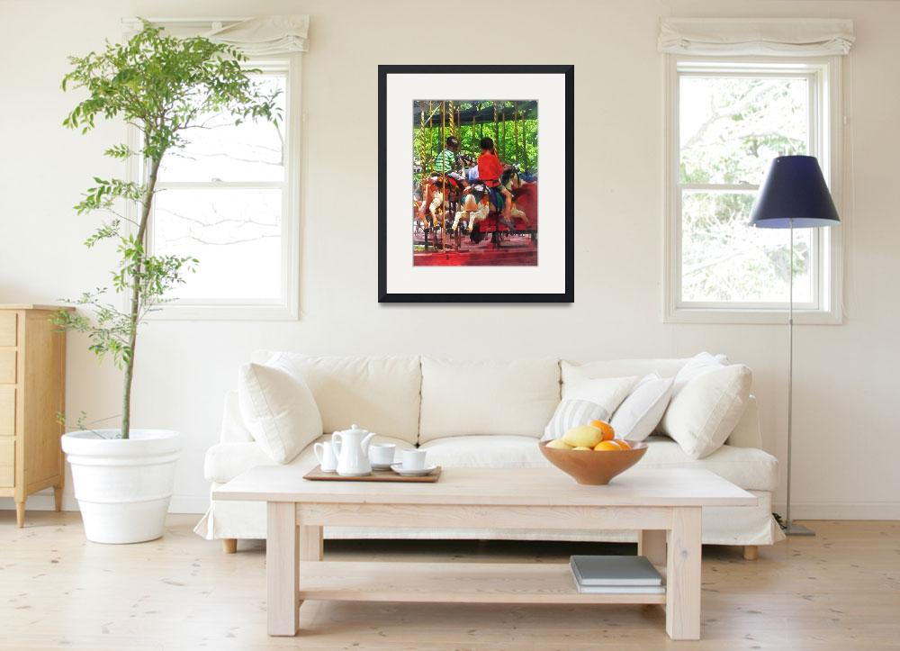 """""""Carnivals - Friends on the Merry-Go-Round&quot  by susansartgallery"""