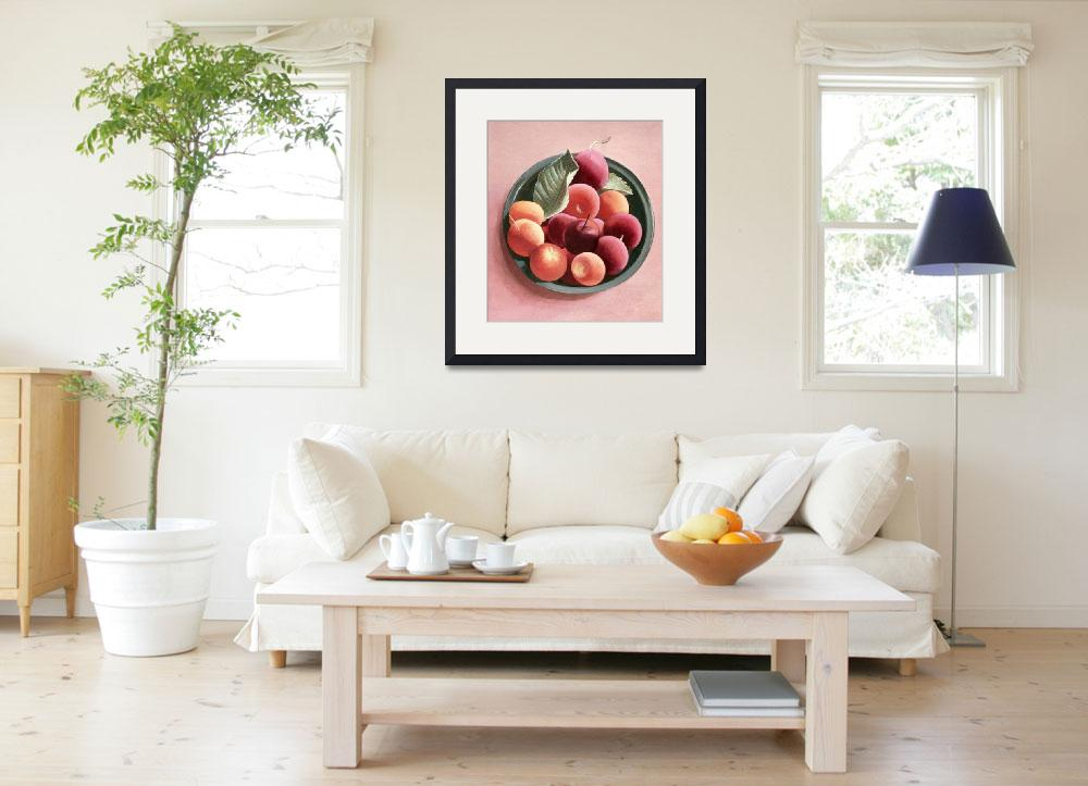 """Bowl of Fruit (egg tempera on paper)&quot  by fineartmasters"