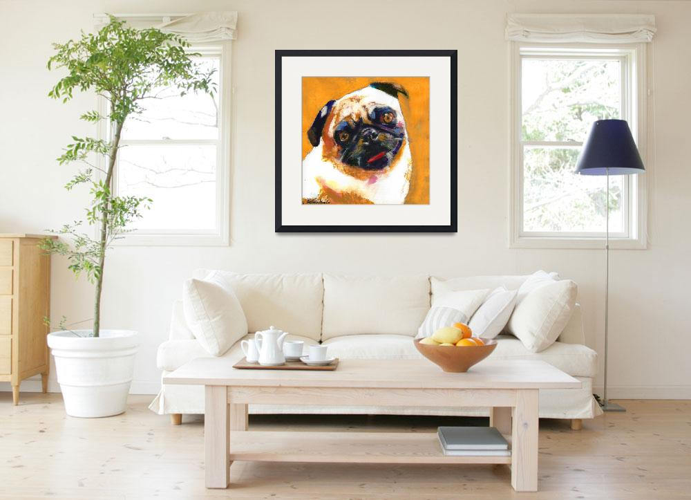 """Pug Blueboy orange&quot  (2010) by RDRiccoboni"