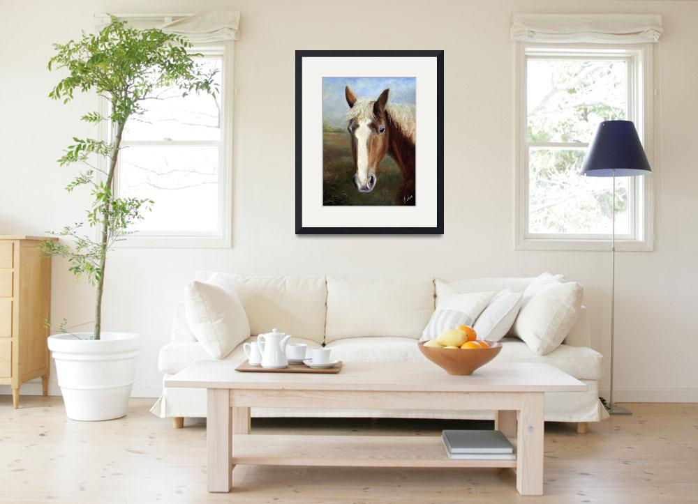 """""""Waiting for Dinah- Rescued Draft Horse by Violano&quot  (2008) by stella"""