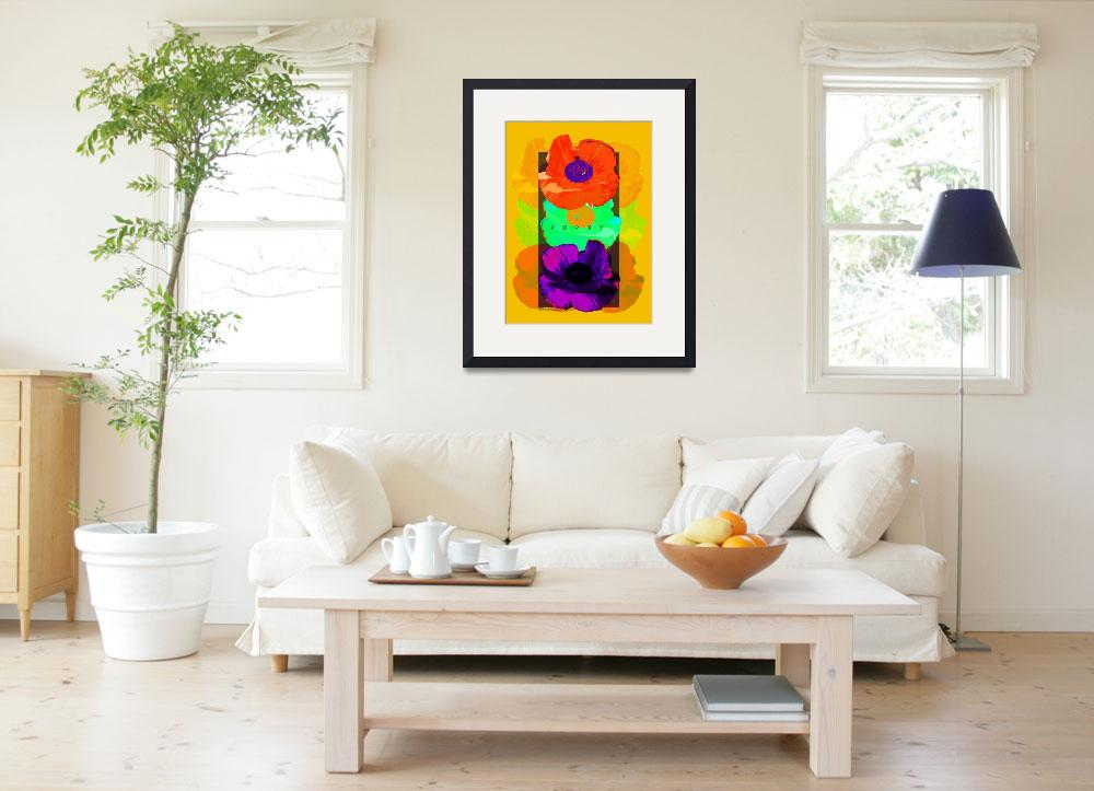"""""""Garden Poppy Poster&quot  (2008) by eyecontact"""