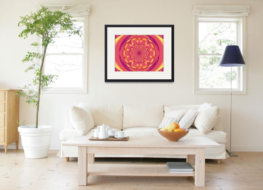 """Calm Orange  Lotus Mandala 1""  by Atlantis-Seeker-Art"