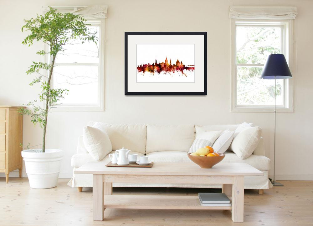 """Annapolis Maryland Skyline&quot  (2018) by ModernArtPrints"