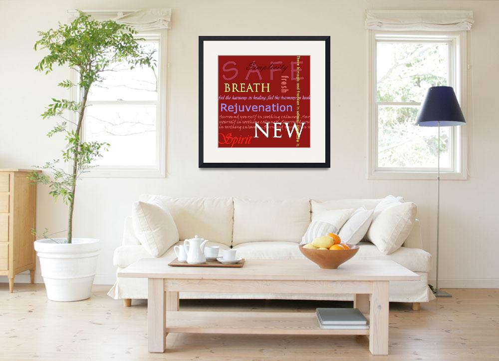 """""""red meditation text""""  (2009) by TCRAWFORD"""