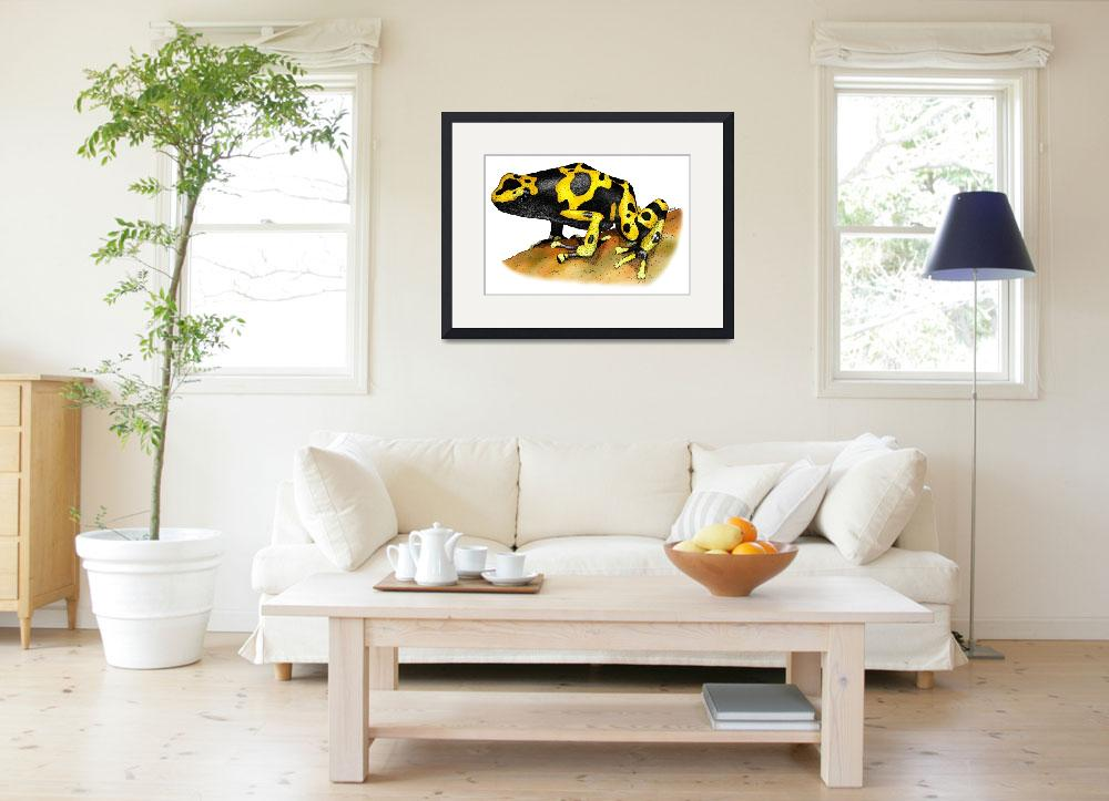 """""""Yellow Banded Poison Dart Frog&quot  by inkart"""
