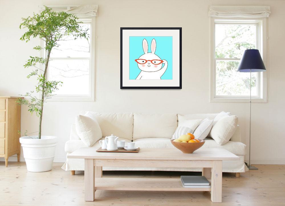 """""""Bespecticaled Bunny Rabbit&quot  (2009) by zoe"""