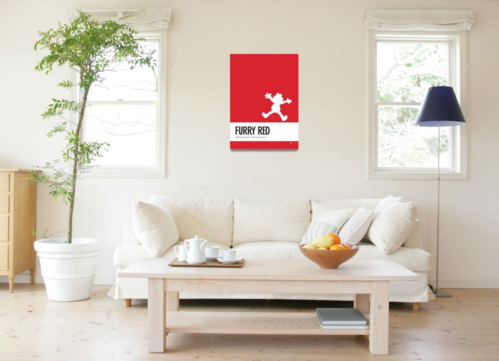 """No30 My Minimal Color Code poster Elmo""  by Chungkong"