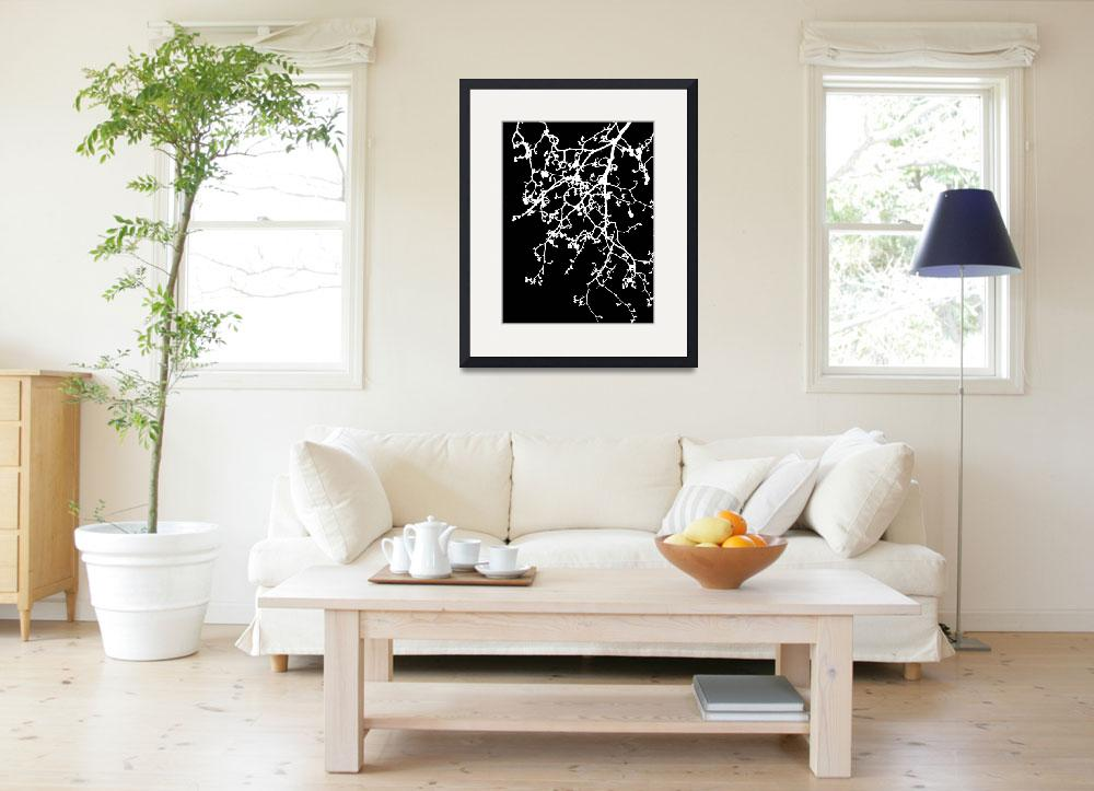 """black and white tree print&quot  (2013) by cathyjacobs"