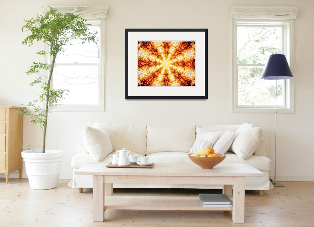 """""""Undulating Tunnels of Molten Light - Abstract Art&quot  (2013) by LeahMcNeir"""