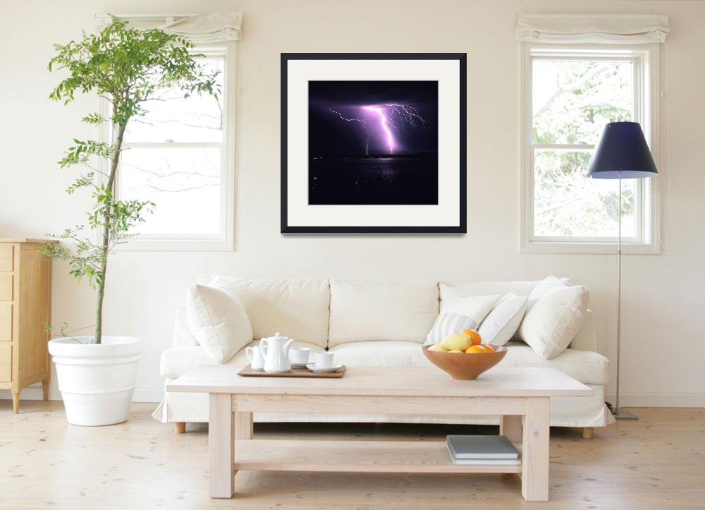 """""""Puget Sound Lightning 4&quot  (1996) by christopherboswell"""