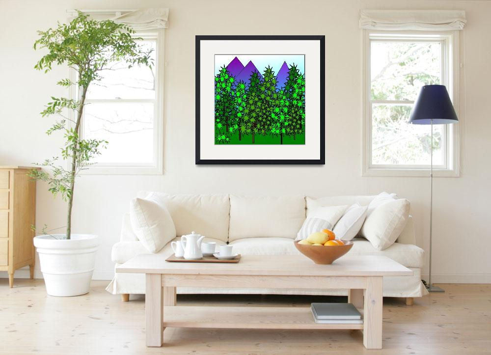 """""""Mountain and trees""""  (2011) by debband"""