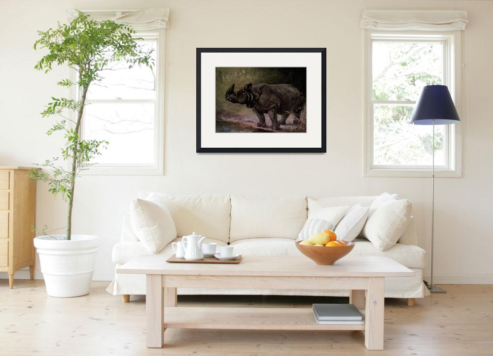 """""""Vintage Rhinoceros Painting (1909)&quot  by Alleycatshirts"""
