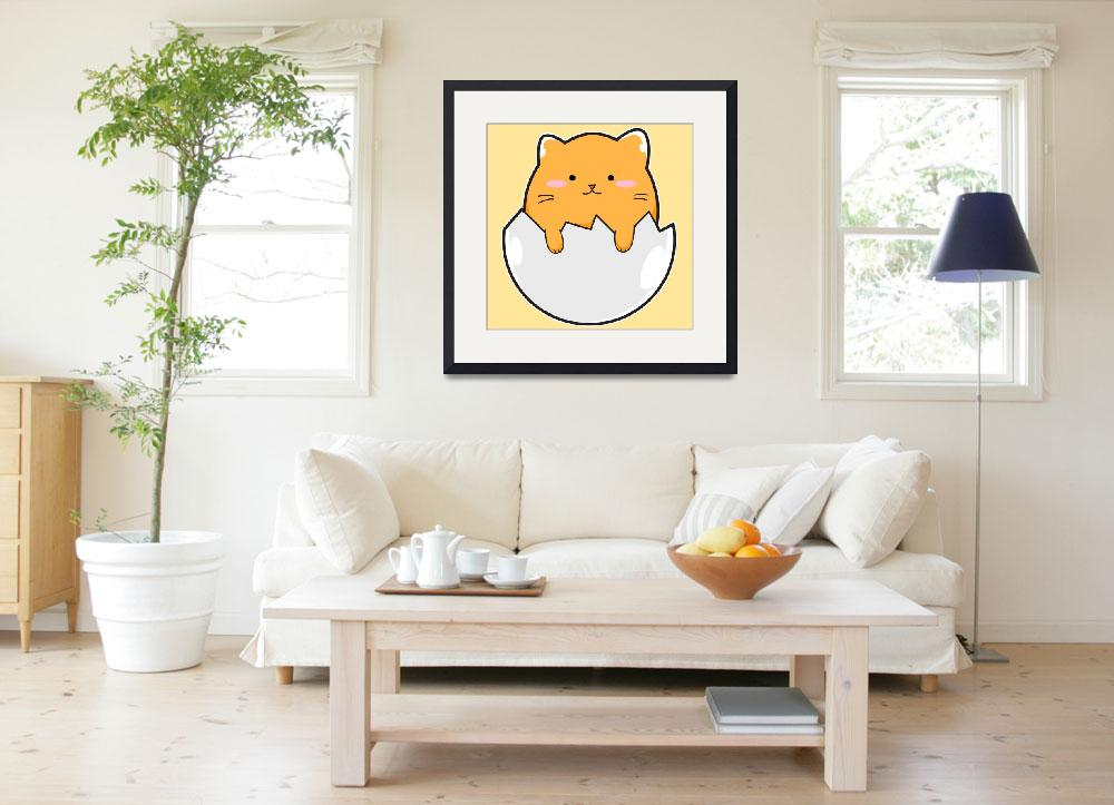"""""""Yellow Cat Egg""""  (2017) by Catifornia"""