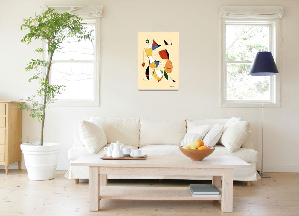"""""""Lady and lion""""  by AbstractArt"""