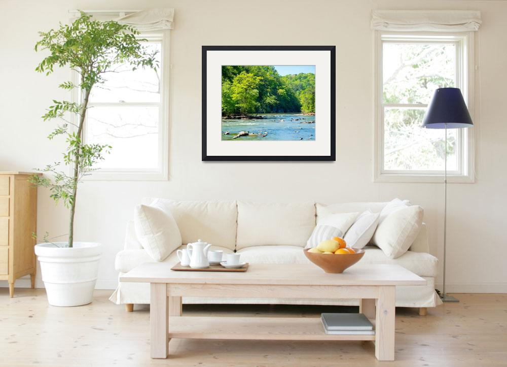 """""""A Spring Morning on the Chattahoochee River&quot  (2014) by Littlepig"""