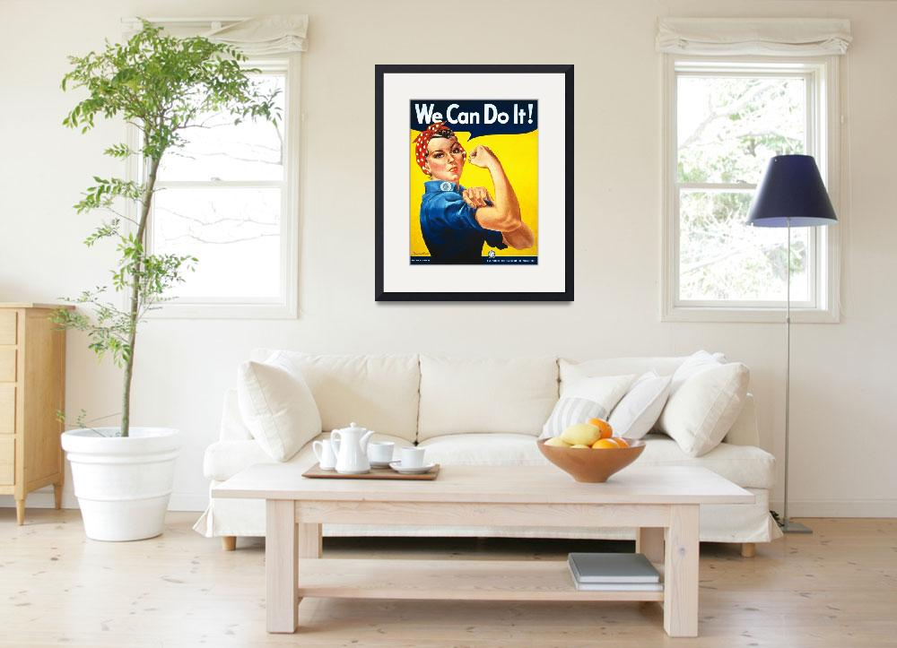 """""""We Can Do It Rosie the Riveter Vintage Poster&quot  by FineArtClassics"""