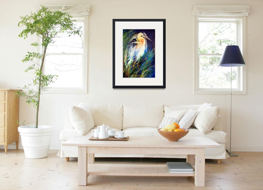 """""""BLUE HERON OF LOUISIANA&quot  (2008) by MBaldwinFineArt2006"""