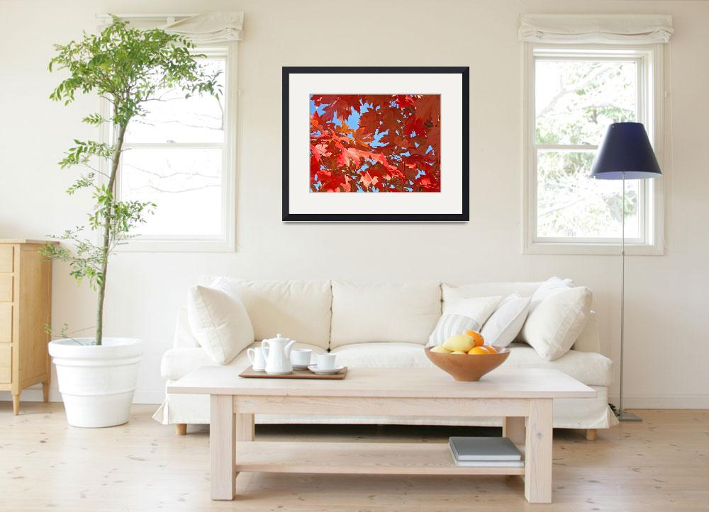 """""""Red Autumn Leaves art print Trees&quot  (2010) by BasleeTroutman"""
