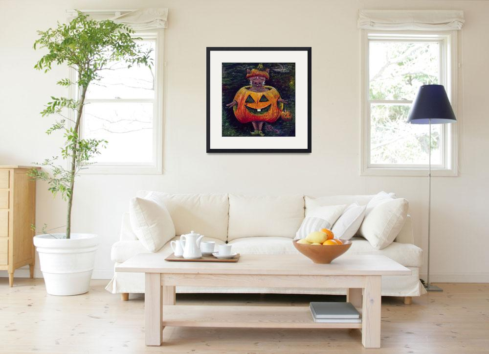 """""""Halloween Hog-SMALL&quot  (2009) by nadinerippelmeyer"""